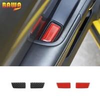 bawa interior mouldings for chevrolet camaro carbon fiber door bowl decoration cover sticker for chevrolet camaro 2012 2015