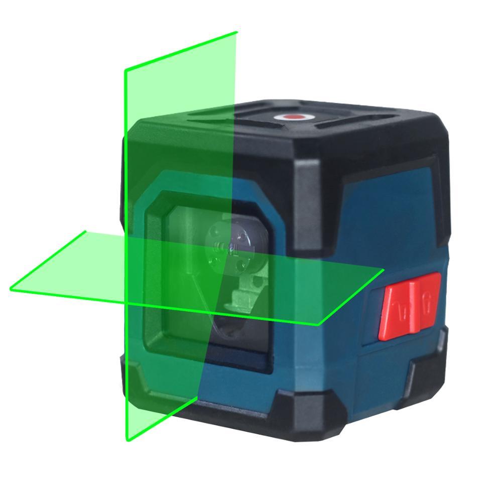 HANMATEK LV1G ليزر مستوى أخضر عبر خط الليزر مع نطاق قياس 50ft ، خط التسوية الذاتي الرأسي والأفقي