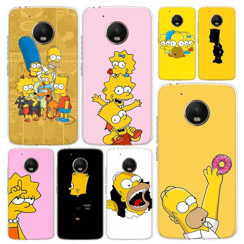 Чехол для телефона Simpsons, чехол для Motorola Moto G8 G7 G6 G5S G5 G4 E6 E5 E4 X4 Play Plus Power + One Action
