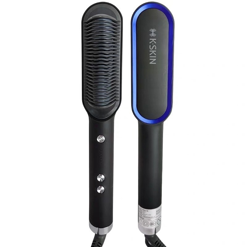 New PTC Heating Hair Straightener Brush Hair Electric Hair Comb Brush Ceramic Straight Curler Styling Tool enlarge