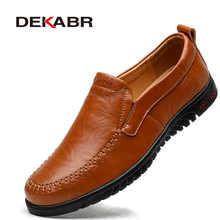 DEKABR/мужские лоферы из натуральной кожи; Роскошная мужская повседневная обувь; Модная обувь для вождения; Дышащие Мокасины без застежки; Раз...