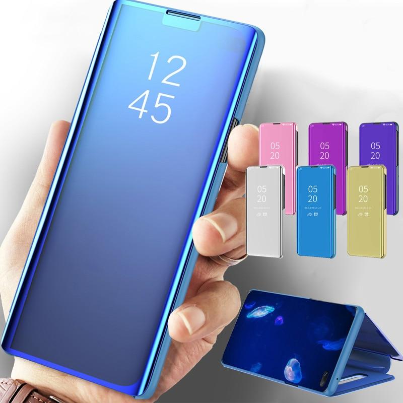Funda espejo para apple iphone 11 Pro XS Max XR X Coque Funda de cuero soporte Fundas para iphone 6 6S 7 8 Plus 10 Fundas
