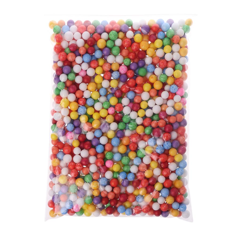 7-9 мм Снежная грязь частицы аксессуары пенопластовые шарики слайм шарики поставки наполнитель для пены слайм пушистая глина грязь