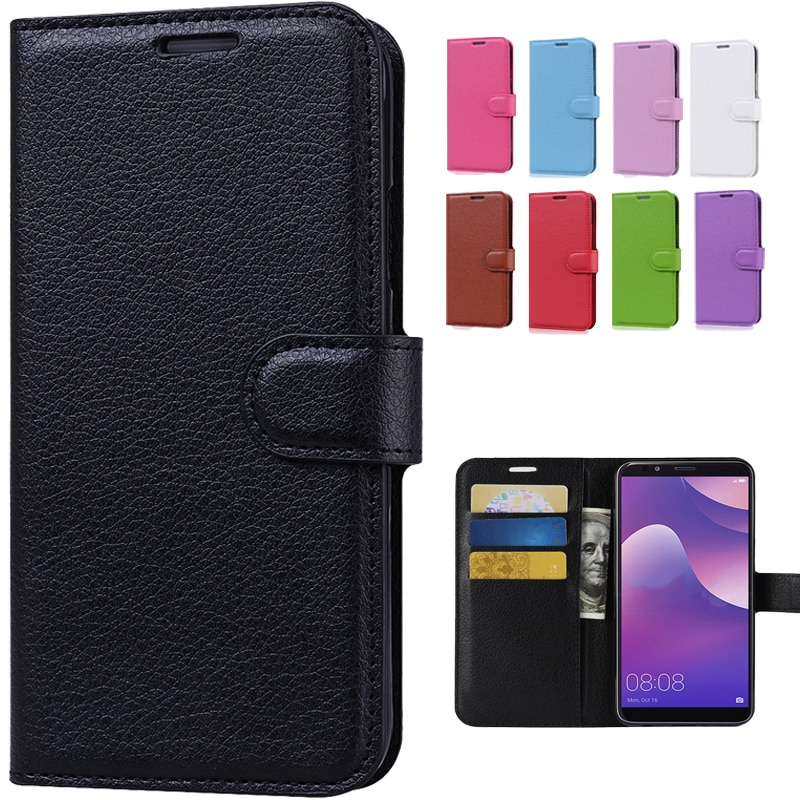 Leather Flip Wallet Case For Huawei Y9 2018 Case Huawei Y9 2018 Phone Case Back Cover For Huawei Y 9