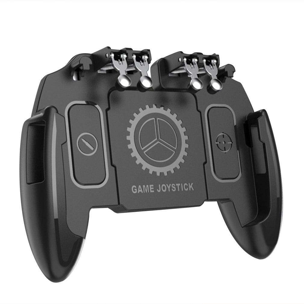 Controlador de juego para móvil M10 de seis dedos PUBG, control de mando, botón de objetivo L1 R1, Joystick con ventilador de refrigeración