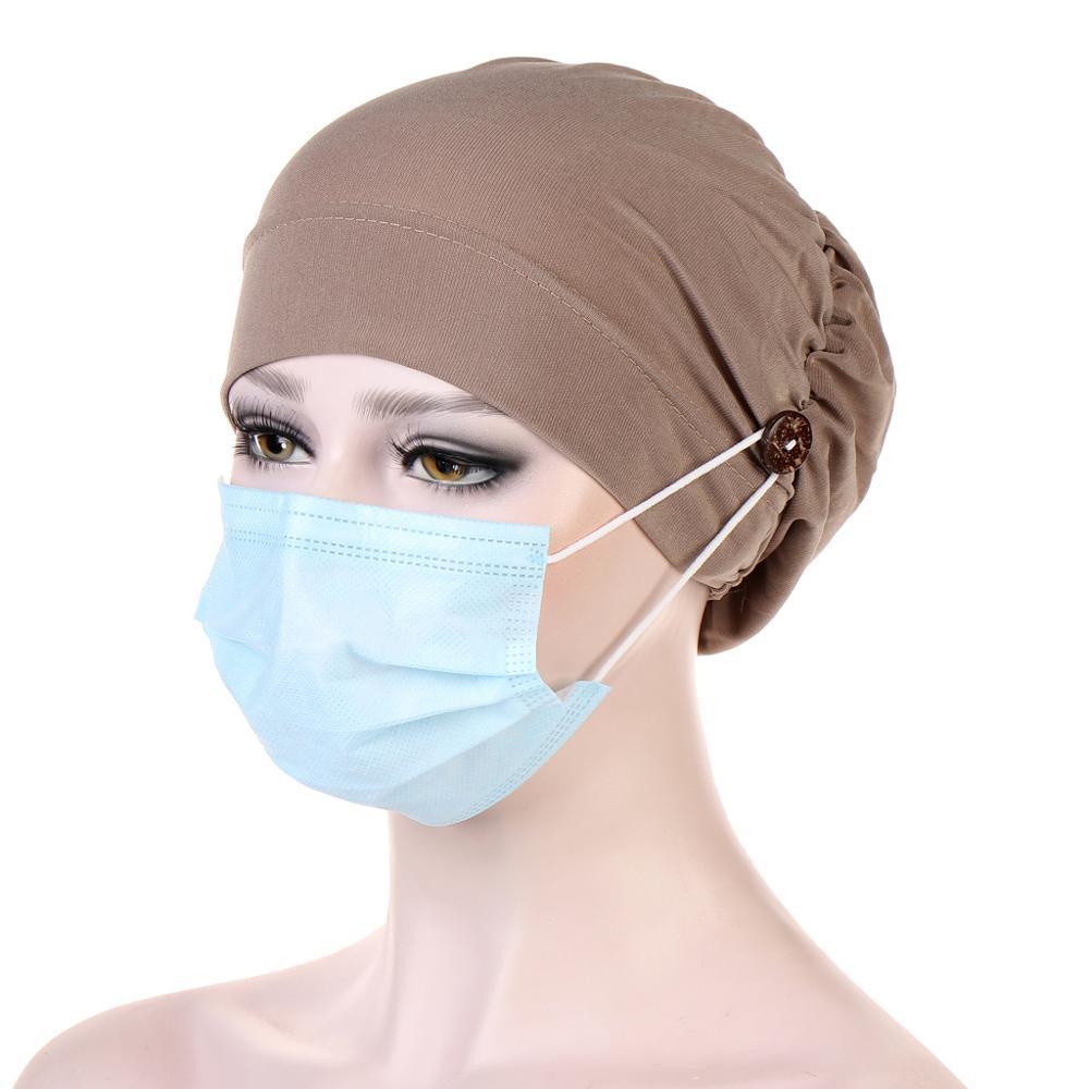 2020 button Muslim turban caps for women Fashion Inner Hijab cap wrap head scarf hijabs bonnet islamic headdress clothing