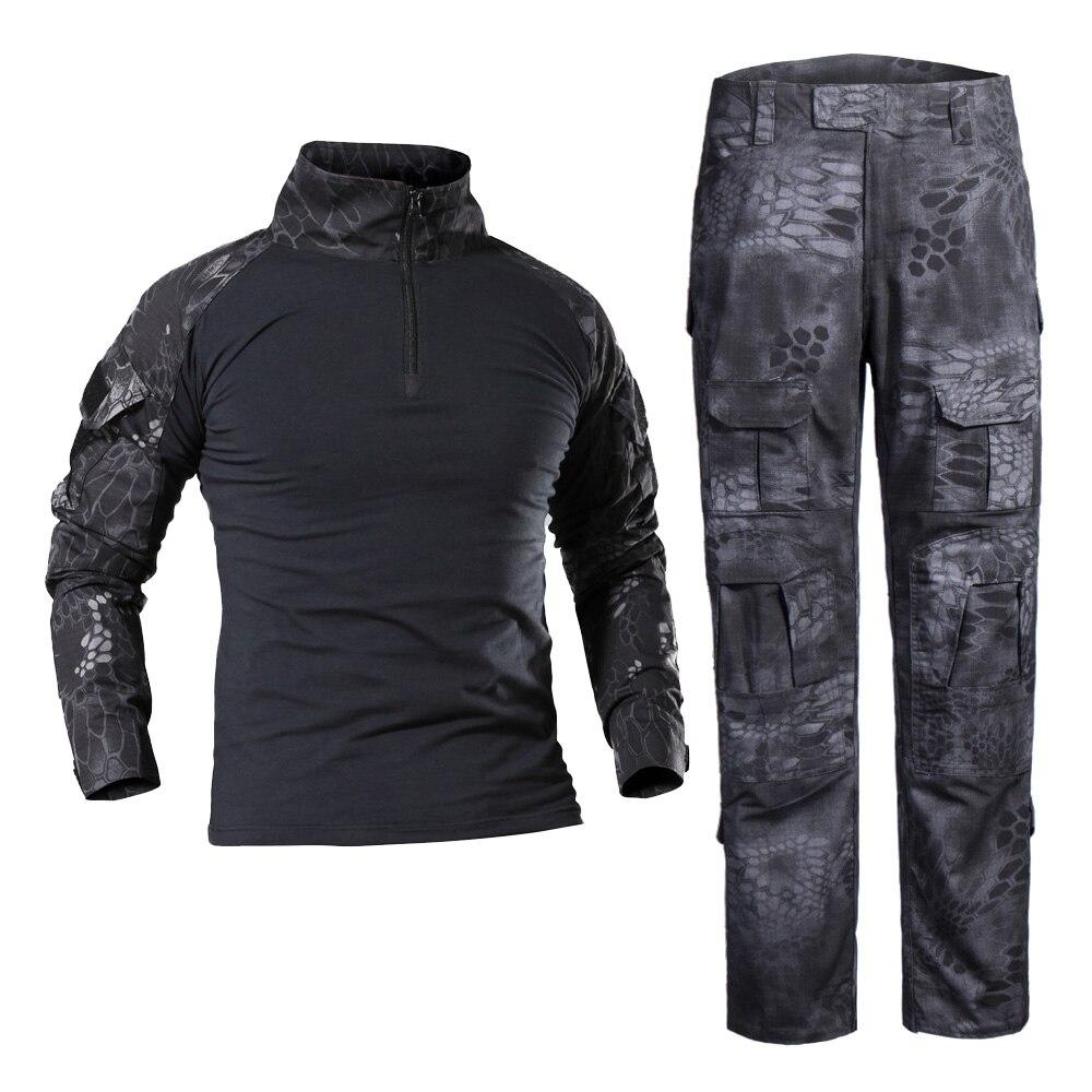 Брюки-карго мужские камуфляжные, рубашка в стиле милитари, тактические армейские штаны, повседневные свободные штаны, походы, CS, для походов...