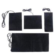 1/4PCS USB Warm Paste Pads Fast-Heating Carbon Fiber Heating Pad Safe Heating Warmer Pad For Cloth Vest Jacket Shoes Socks