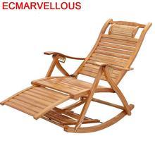 Canapé de Bureau inclinable fauteuil à bascule bambou lit pliant Sillon inclinable Cama plissable Sillones moderne Para Sala Chaise longue