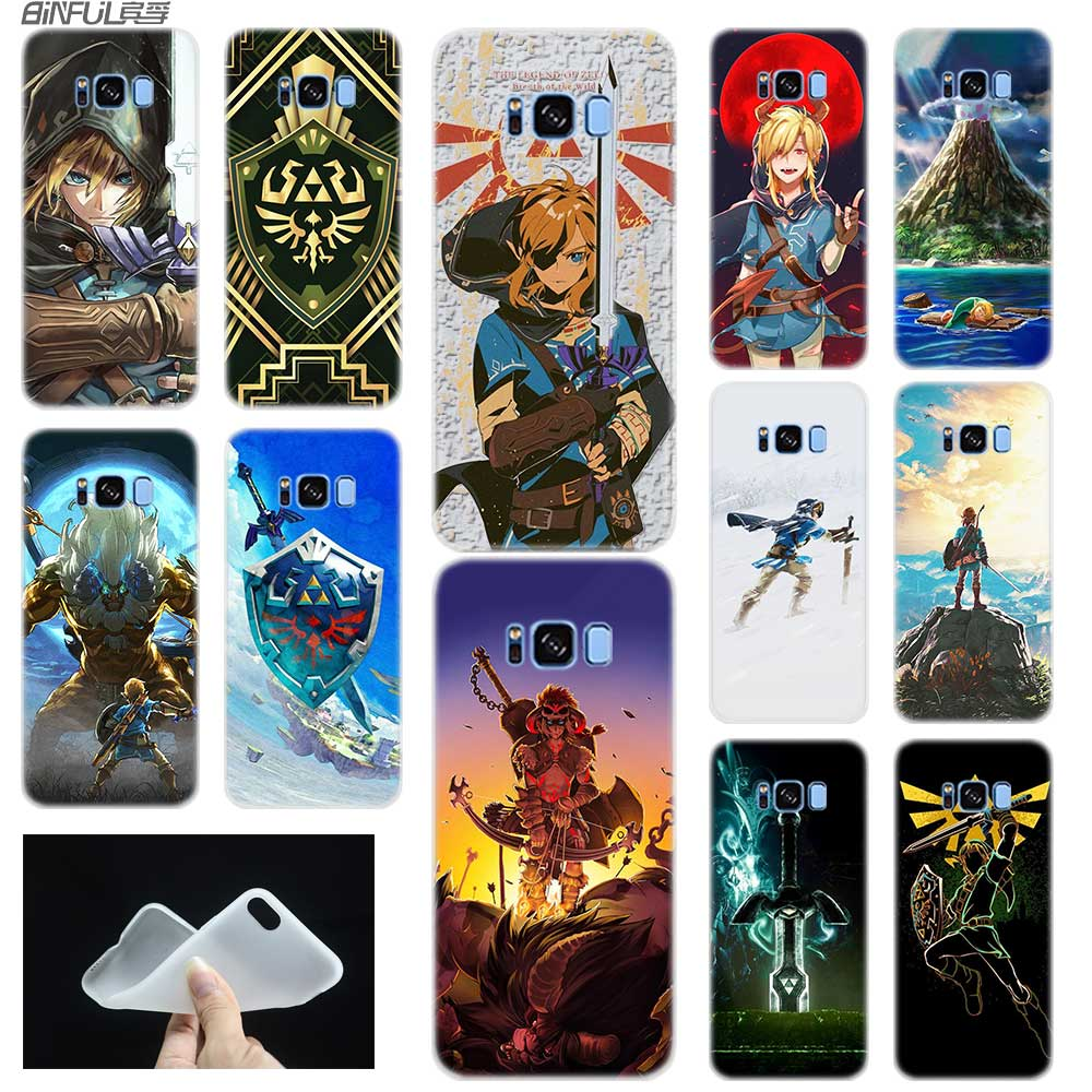 Funda para Samsung S5 S7 S6 Edge Plus S8 S9 S10 E Plus funda de silicona suave 3D TPU Note 8 9 10 Pro la leyenda de Zelda