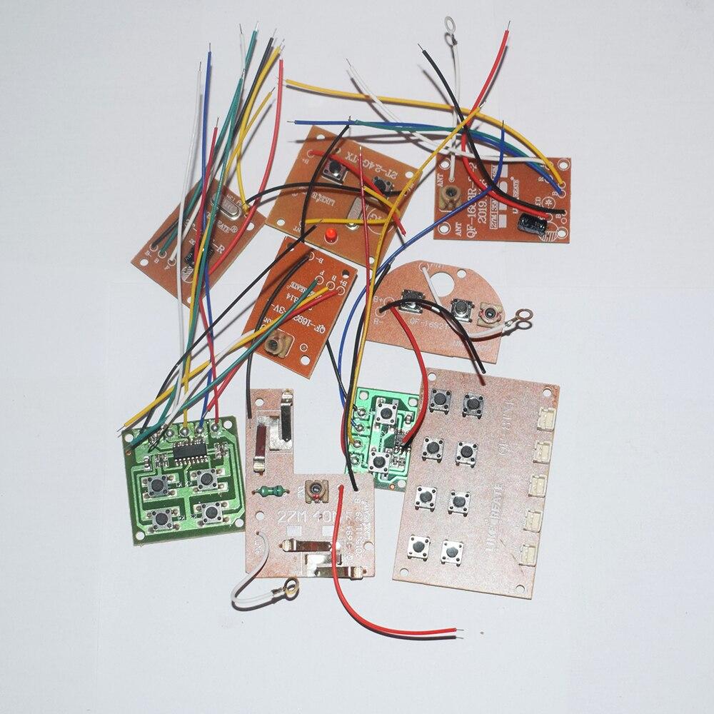 1 Uds 27MHz 40MHz 2,4G 2 vías 4 vías 8 vías control remoto de pcb rc coche robot barco cuatro ejes aviones diy juguetes piezas modelo de accesorios