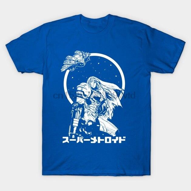 Мужская футболка The Bounty Hunter Metroid футболка wo Мужская футболка тройники топ