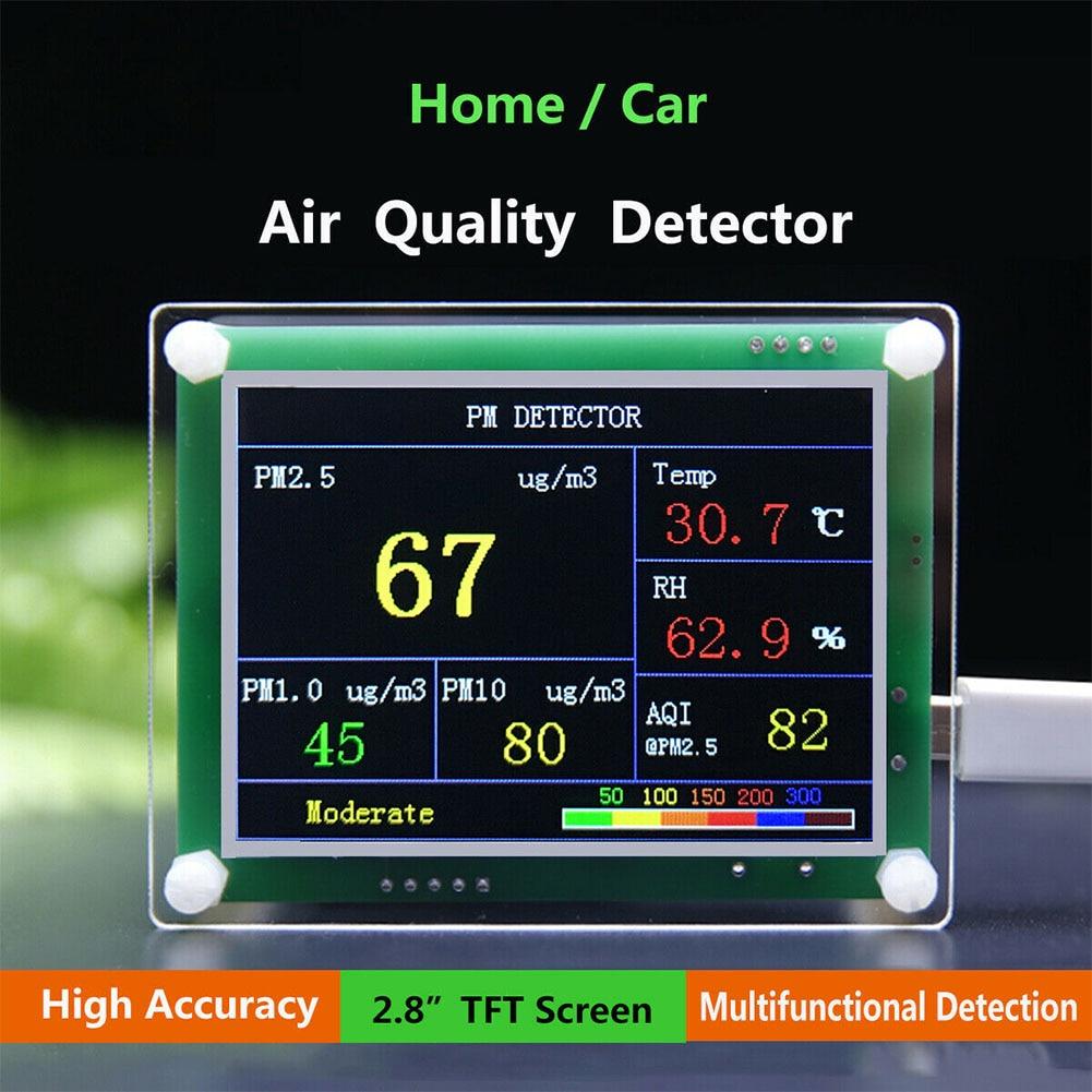 2.8inch Household Dust Sensor LCD Display PM2.5 Digital High Sensitivity Module Multipurpose Accurat