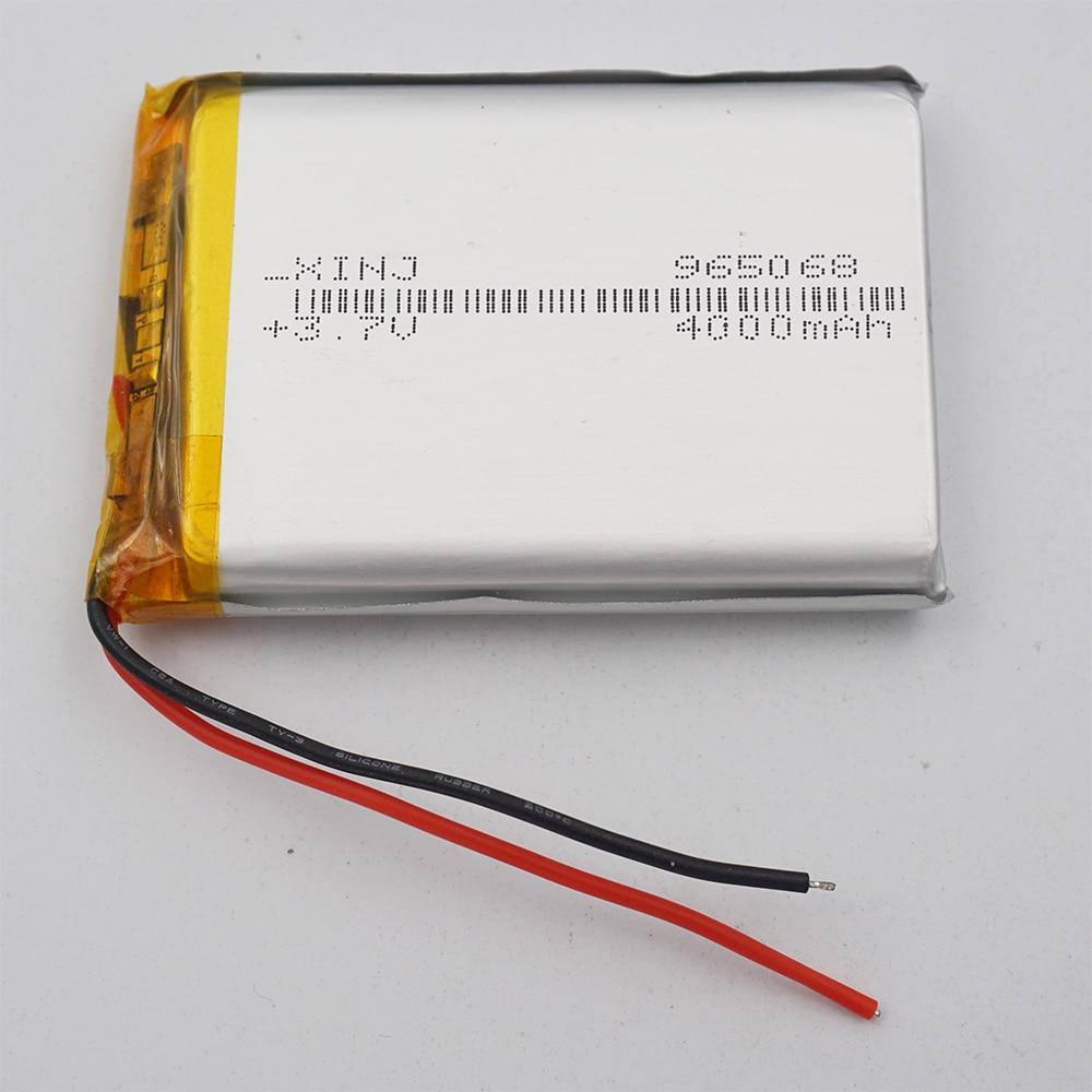 XINJ, 3,7 V, 4000 mAh, batería de iones de litio recargable Li Po, 965068 para bricolaje, GPS MID DVC PSP, batería de teléfono, tableta PC