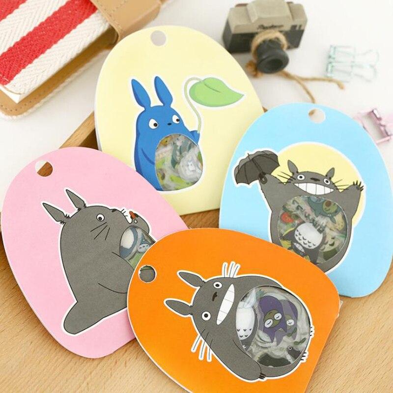 Paquete de 60 pegatinas decorativas Kawaii de My Neighbor Totoro, álbum diario, etiqueta, pegatina para álbum de recortes, juguetes adhesivos DIY