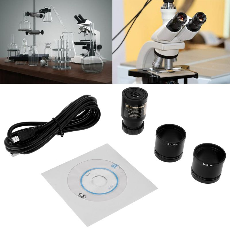 HD CMOS 2.0MP USB электронный окуляр микроскоп камера Монтажный размер 23,2 мм с кольцевыми адаптерами 30 мм 30,5 мм