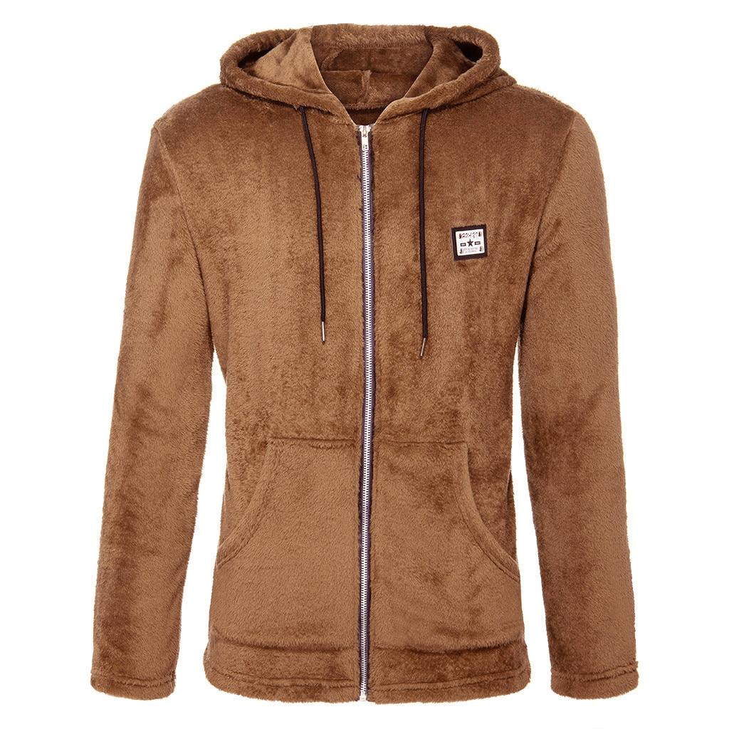 men jacket New Fashion Casual Zipper Loose Double-Sided Plush Hooded  Jackets bomber jacket men coach jacket jaqueta masculino