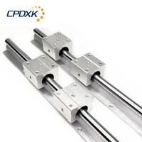 Linear Guide Rail 2pcs SBR16 / SBR12 / SBR20 + 4pcs SBR16UU / SBR12UU / SBR20UU Linear Bearing Blocks For CNC Parts