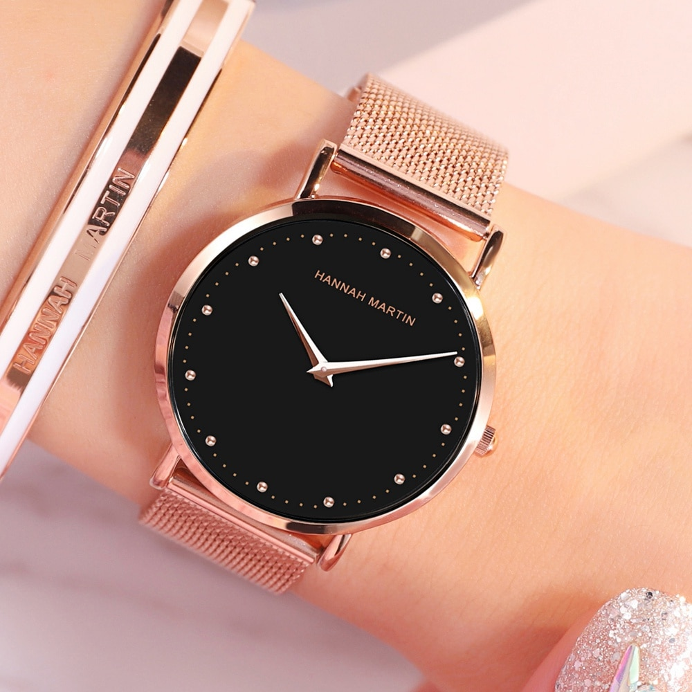 Fashion Women's Watches Luxury Quartz Stainless Steel Watch for Women Rose Gold Ladies Waterproof Light Women's Wristwatches enlarge