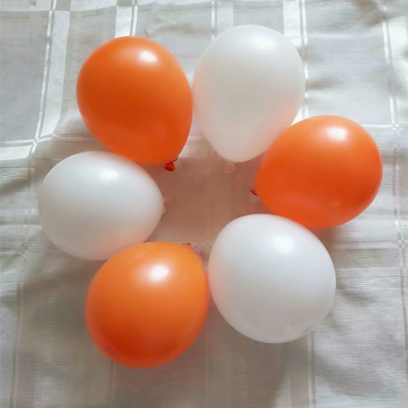 Globos naranja 100 5 pulgadas 1,2g globo blanco de látex redondo globos inflables de aire de boda babyshower aniversaire enfant