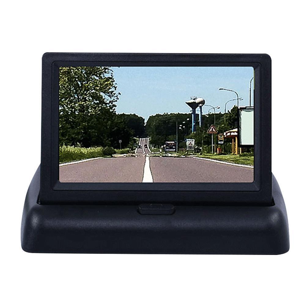 Черные автомобильные мониторы 4,3 дюйма, TFT ЖК-дисплей, автомобильный монитор заднего вида, парковочная система заднего вида для резервного к...