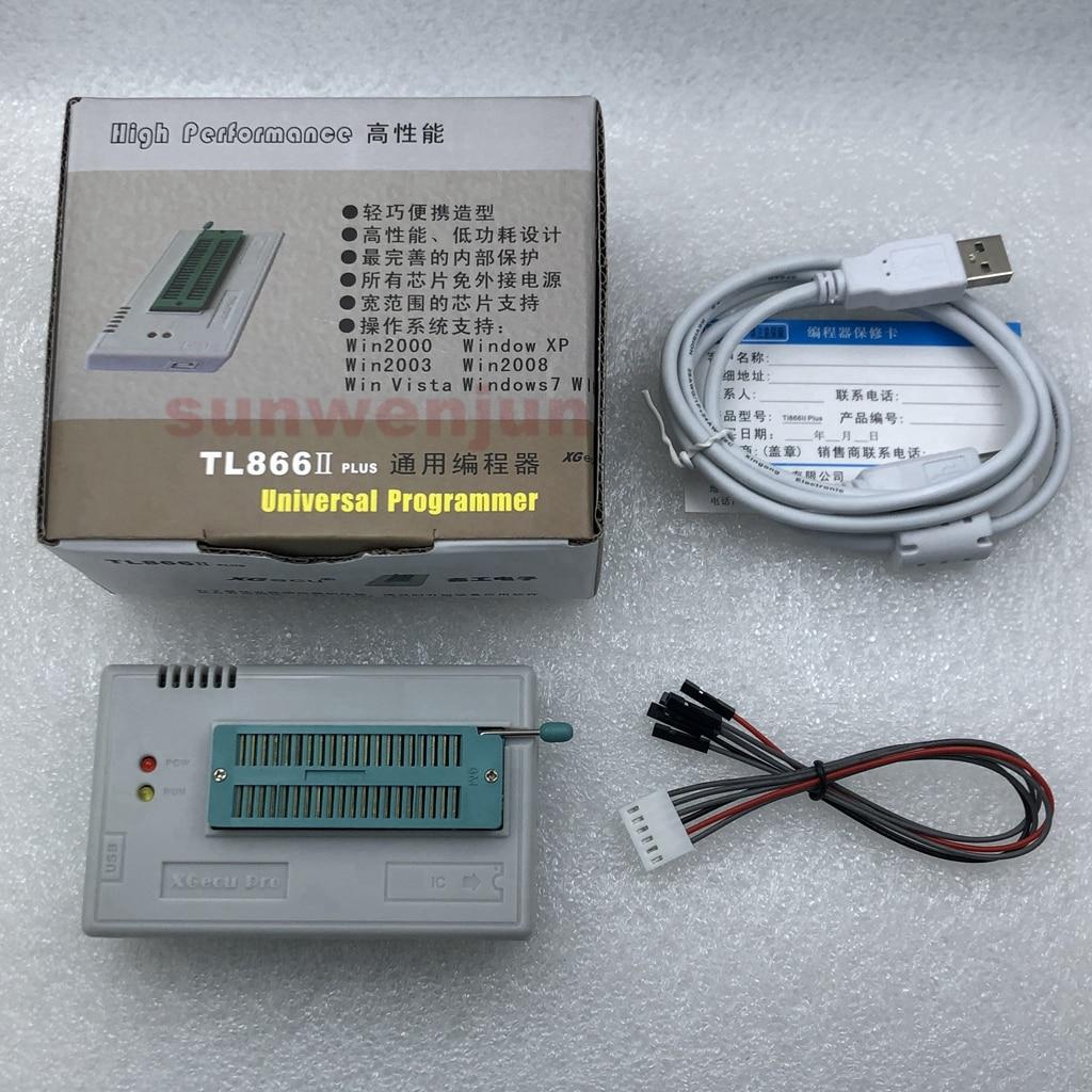 V10.33 XGecu TL866II Plus USB Programmer support 15000+IC SPI Flash NAND EEPROM MCU PIC AVR replace TL866A TL866CS