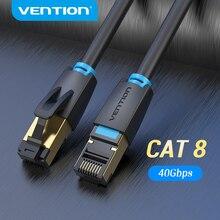 Vention-Cable Ethernet Cat8 SSTP para enrutador, Conector de conexión Lan de Red Cat 8 RJ45, de 40Gbps, 2000MHz, módem de Internet RJ 45