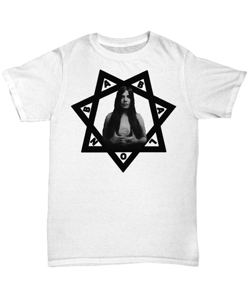 Camiseta Esoteric-Scarlet mujer Babalon símbolo-Thelema Heptagram ocult Crowley camiseta Popular