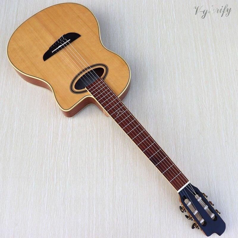 Фламенко для классической электрогитары, фламенко гитара, 39 дюймов Классическая гитара с эквалайзером с функцией тюнера