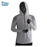 trvlwego fishing clothing men thin breathable shirt upf 50 uv protection anti mosquito sportswear summer thermal outdoor