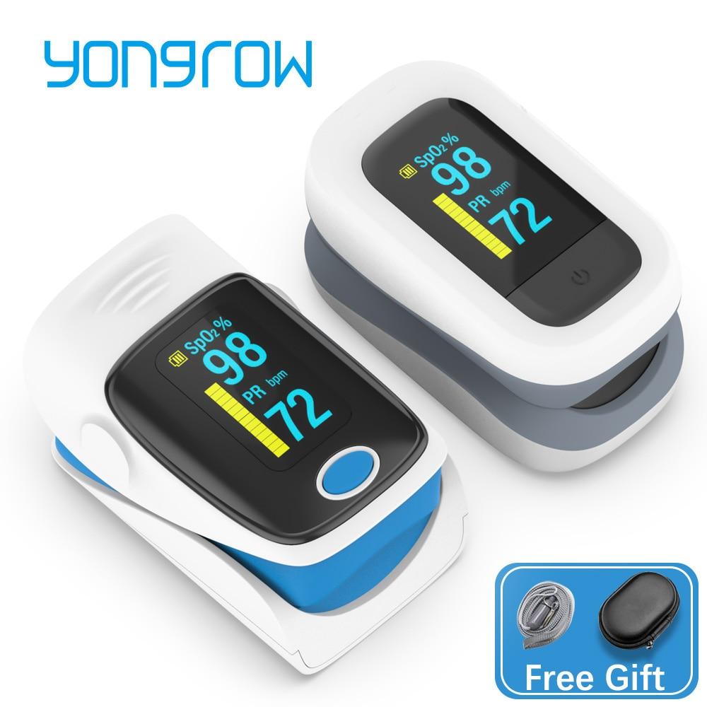 Yongrow médical ménage numérique doigt oxymètre de pouls sang oxygène Saturation mètre moniteur de fréquence cardiaque soins de santé tonomètre