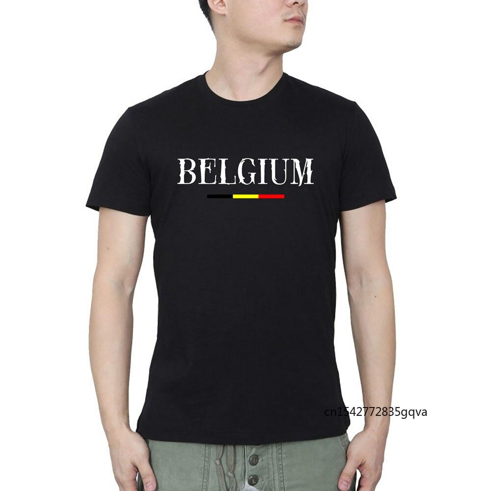 Бельгия, Бельгия, Belgie, Бельгия, Повседневная летняя футболка, уличная одежда с круглым вырезом, графические футболки, Харадзюку, Повседневна...