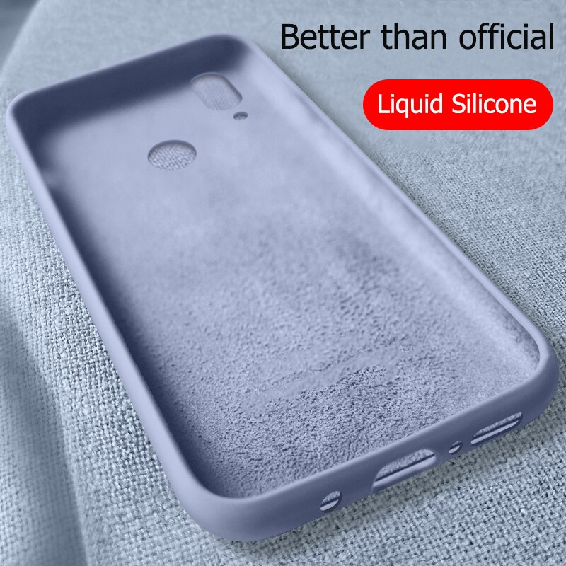 Para Huawei P Smart Z funda líquida silicona blanda de TPU funda para Huawei P Smart Plus 2019 Fundas de teléfono a prueba de golpes