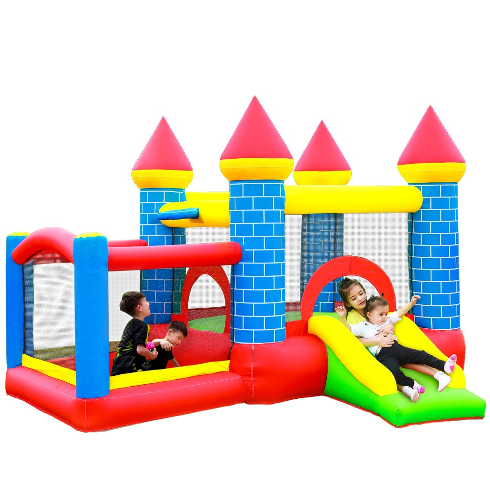 Mini Bouncer Yard Bouncer Inflatable Bounce House Jumping Bouncy Castle House with Air Blower for Kids yard bouncy castle inflatable jumping castles 3 5 3 2 7m trampoline for children house inflatable bouncer with slide blower