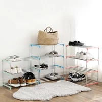 1pc stainless simple multi layer shoe rack easy assemble storage shoe cabinet shoe rack hanger home organizer accessories