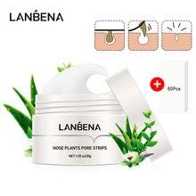 LANBENA Blackhead Remover Nose Face Mask Pore Strip Tearing Black Mask Peeling Acne Treatment Unisex