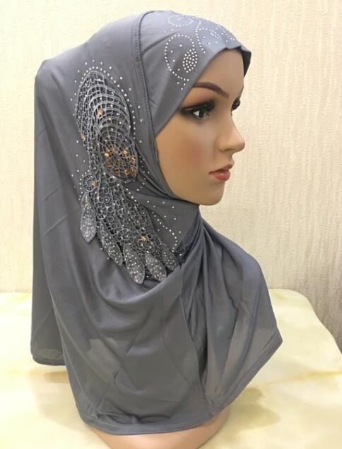 laura gordon big beautiful and bounteous beautiful big gilrs or adult muslim hijab with lace and stones islamic scarf shawl headscarf hat armia pull on wrap