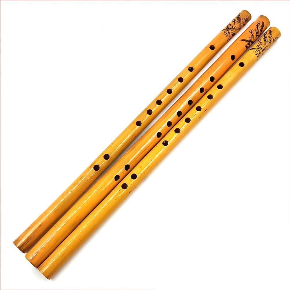 Dragonpad 44CM flauta tradicional china 6 agujeros de bambú flauta Vertical instrumento Musical Beginner madera Dizi flauta