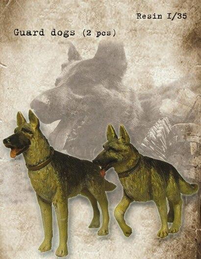 1/35 resina Animal serie Guard modelo de perro Kit de construcción