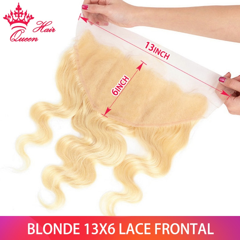 Queen Hair 613 13x6 13x4 Lace Frontal Pre Plucked Body Wave 613 Blonde Brazilian Remy Human Hair Closure Swiss Lace Baby Hair