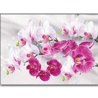 Peinture diamant orchidee image  broderie complete 5D  perles carrees ou rondes  resine en mosaique  artisanat  decoration dinterieur  ensemble cadeau
