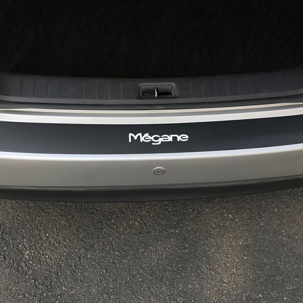 Пленка из углеродного волокна для багажника автомобиля, накладка на задний бампер, наклейки для Renault Megane 2 3 Scenic 4 1, Анти-Царапины, аксессуары