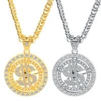 2021 new fashion creative hip hop dollar pendant necklace fashion hip hop mens necklace ladies necklace hip hop party