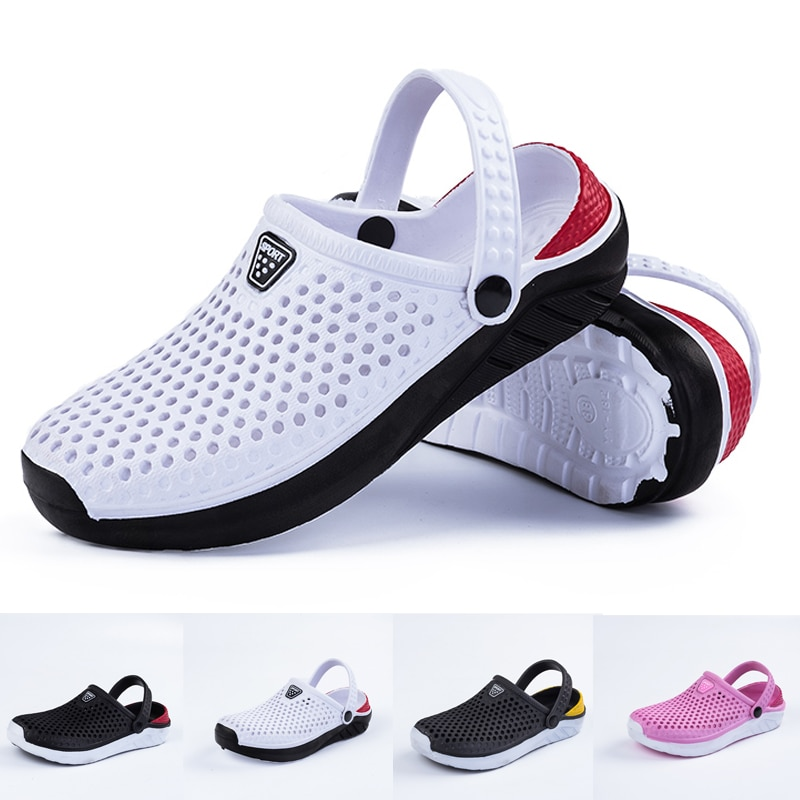 Uni Fashion Beach Sandals Thick Sole Slipper Waterproof Anti-Slip Sandals Flip Flops for Women Men