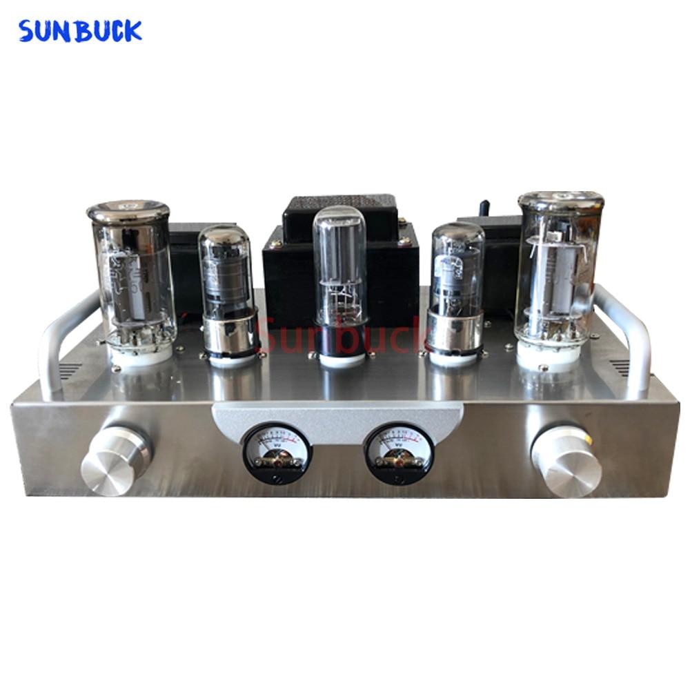 Sunbuck صغير 300B 6J8P FU50 5U4C مُضخّم صوت صوت مكبر كهربائي طقم الصوت مع أداة عرض الرأس