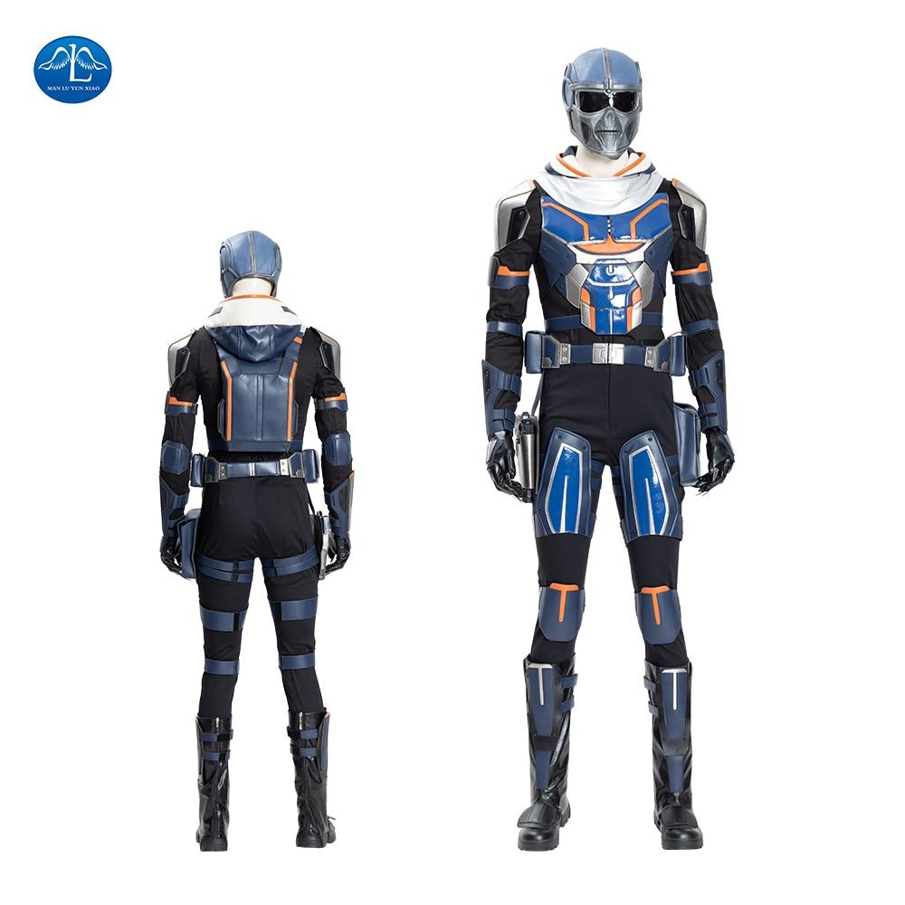 Feito sob Encomenda Super-herói Preto Taskmaster Viúva Cosplay Traje Homem Halloween Outfit Couro Batalha Terno Uniforme