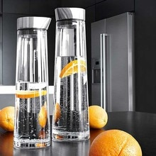 900-1800ML Thickened Glass Big Water Bottle With Stainless Steel Lid Carafe Boiling Water Juice Glas