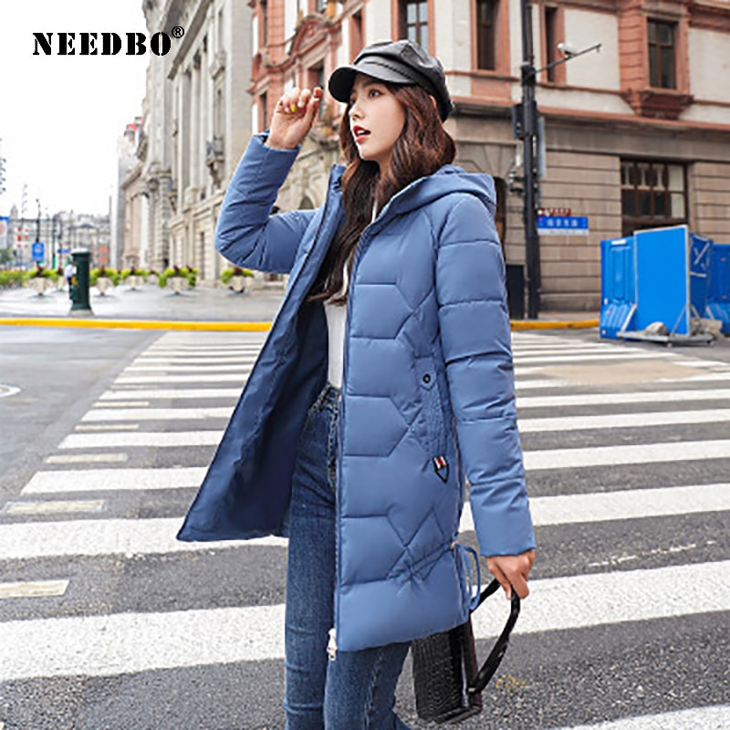 2021 brand clothing men winter parka long section 2 colors new warm thicken jacket outwear windproof coat hooded plus size s 4xl NEEDBO Long Winter Jacket Women Parka Mujer Hooded Puffer Jacket Women Winter Coat Warm Plus Size 4XL Casual Casaco Outwear