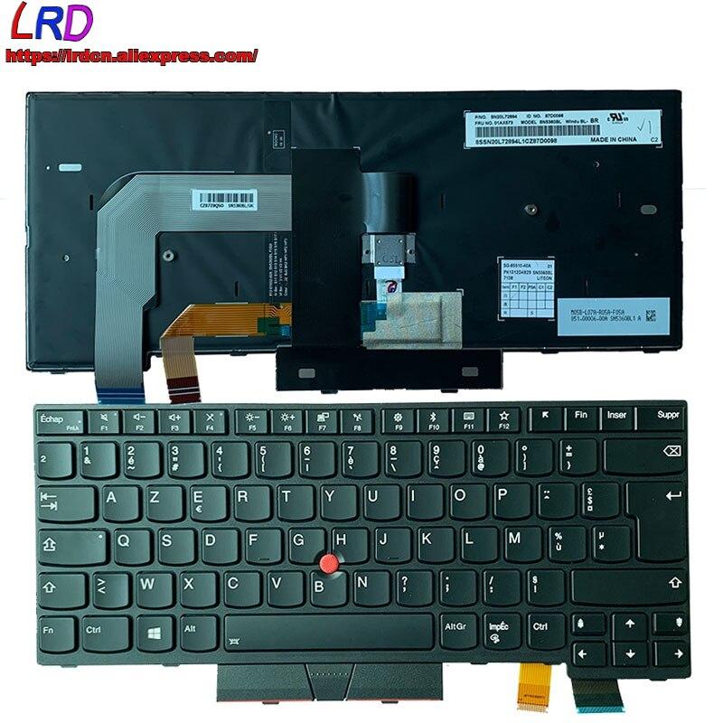 Nuevo FR francés Teclado retroiluminado para Lenovo Thinkpad T470 A475 T480 A485 portátil 01AX580 01AX498 01HX470 01HX510 01HX430