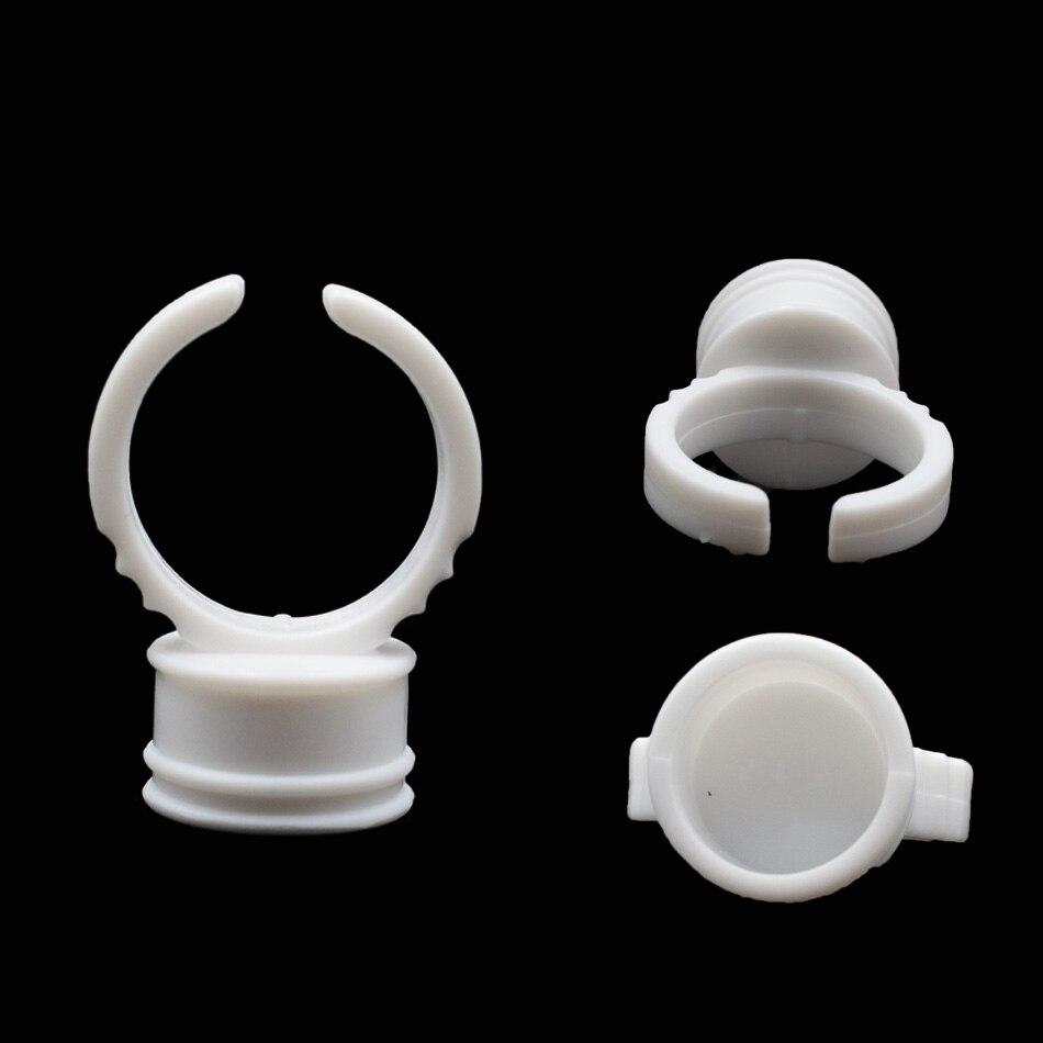 200/500 Uds pegamento desechable anillo para pestañas soporte de pegamento anillo paleta tatuaje pigmento adhesivo Gel Mini bandeja de pestañas herramienta de injerto